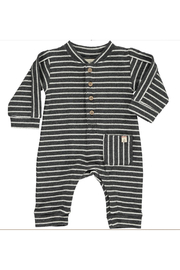 Me & Henry Jersey Striped Romper - Front cropped