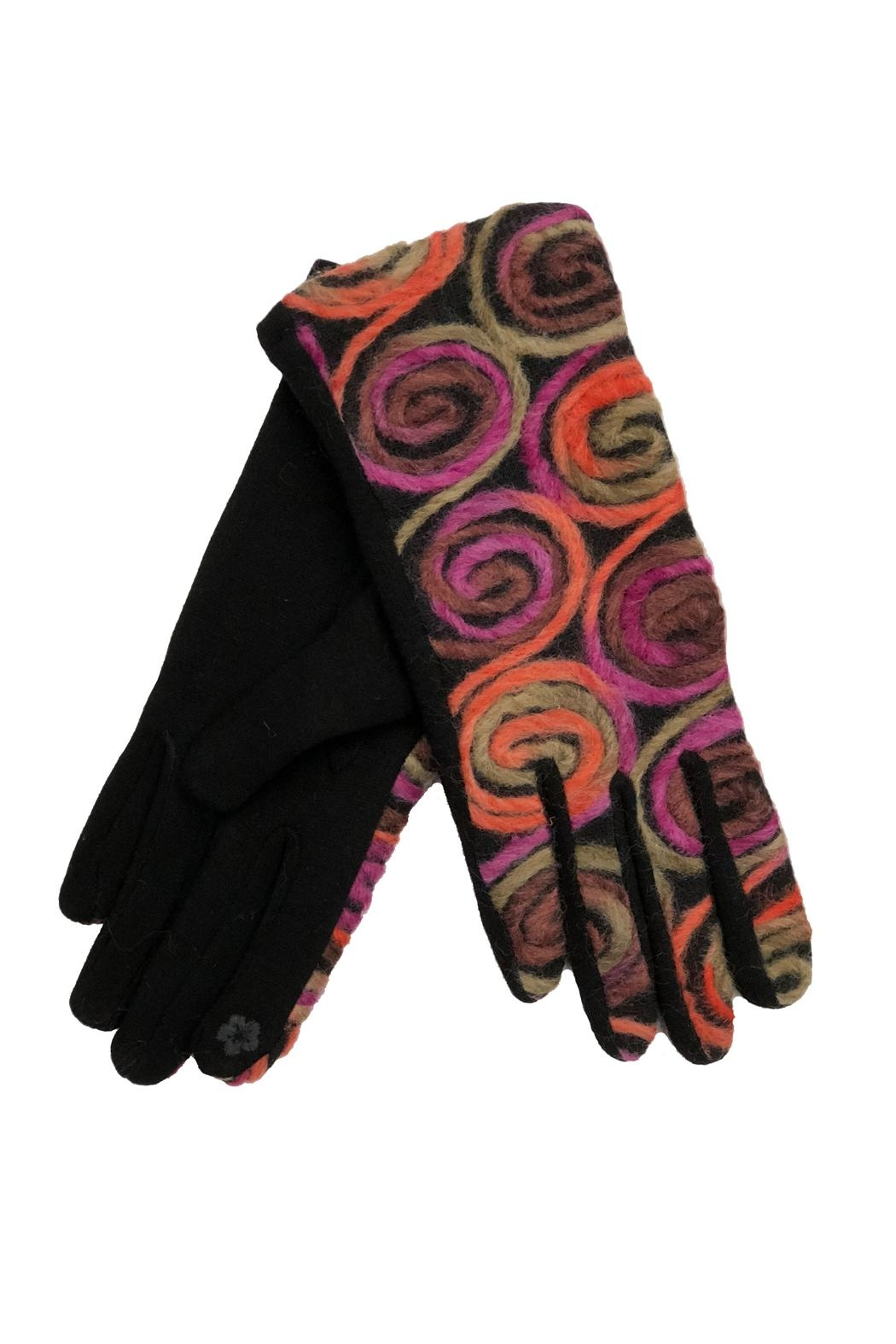Adrienne Jersey Swirl Gloves - Front Cropped Image