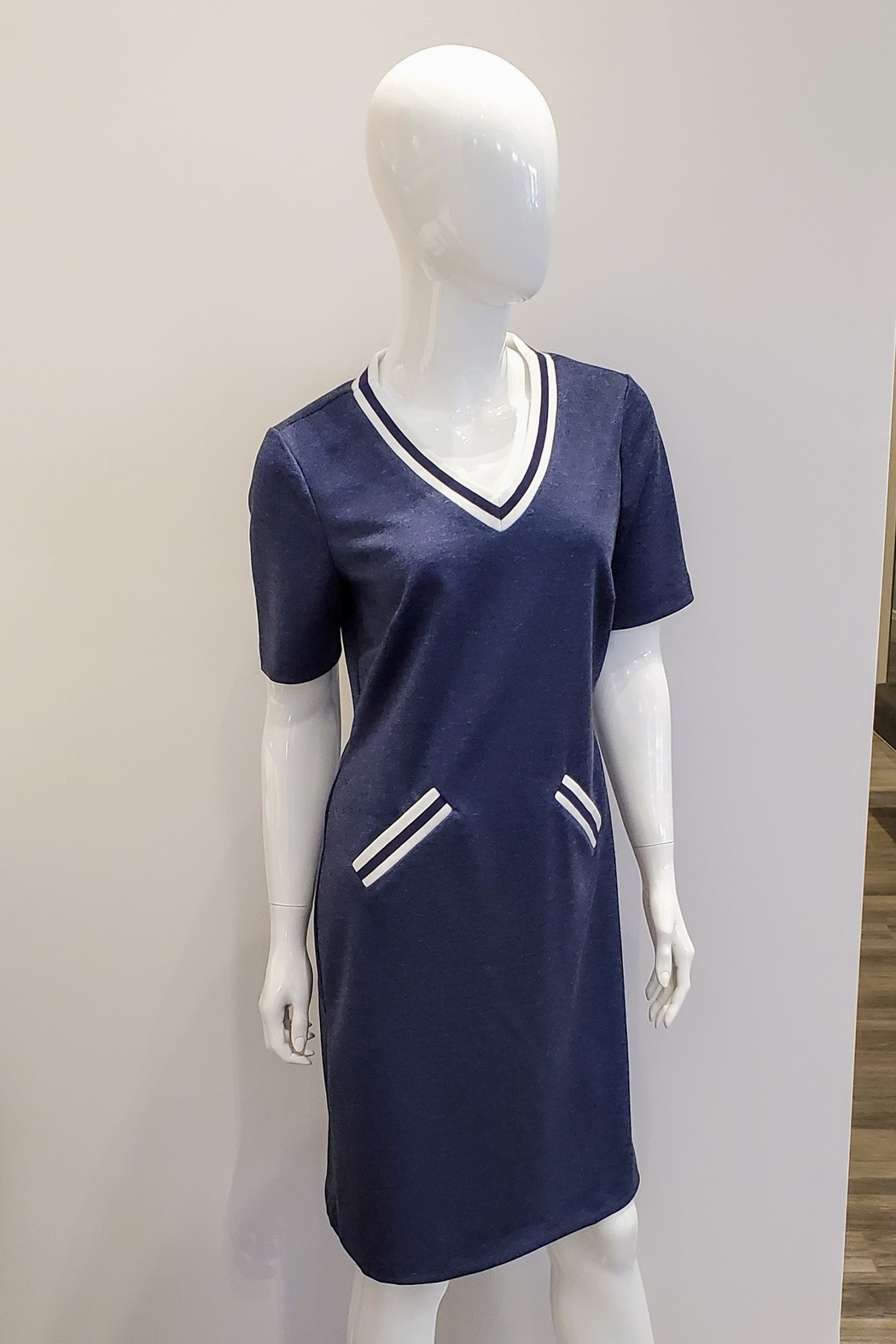 Katherine Barclay Jersey Tee Dress - Front Cropped Image