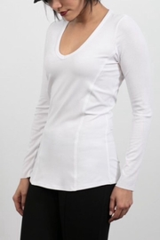 Lola & Sophie Jersey V-Neck Shirt - Product Mini Image