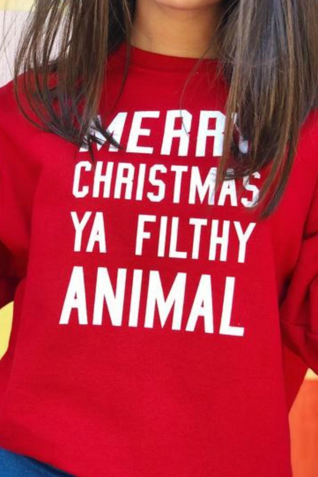 Jerzees Filthy Animal Sweatshirt - Front Full Image