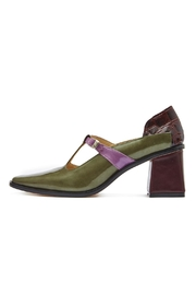 Jessica Kessel Caterina Green Pumps - Front cropped