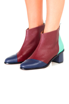 Jessica Kessel Color Block Ankle Bootie - Alternate List Image