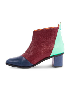 Jessica Kessel Color Block Ankle Bootie - Product List Image