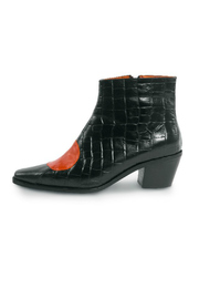 Jessica Kessel Sqaure Toe Ankle Bootie - Front cropped