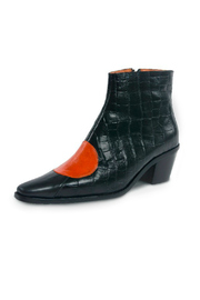 Jessica Kessel Sqaure Toe Ankle Bootie - Front full body