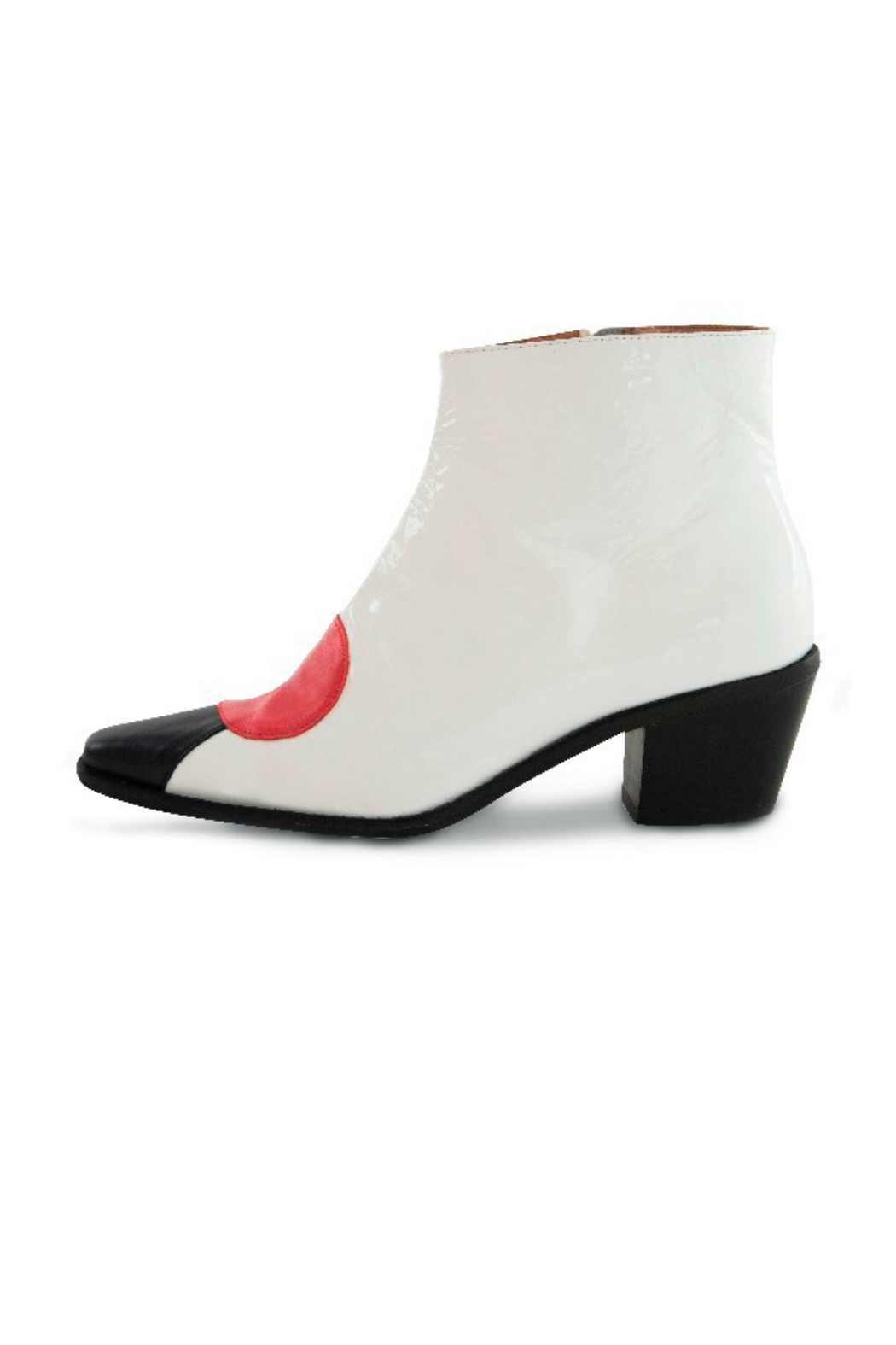 Jessica Kessel Sqaure Toe Ankle Bootie - Front Cropped Image