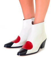 Jessica Kessel Sqaure Toe Ankle Bootie - Back cropped
