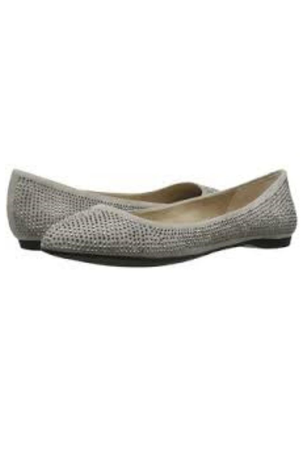 Jessica Simpson Silver Grey Rhinestone Flats - Front Cropped Image