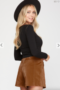 She and Sky Jessie Faux Leather Shorts - Alternate List Image