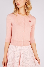Pink Poodle Boutique Jessy Flamingo Cardigan - Front cropped