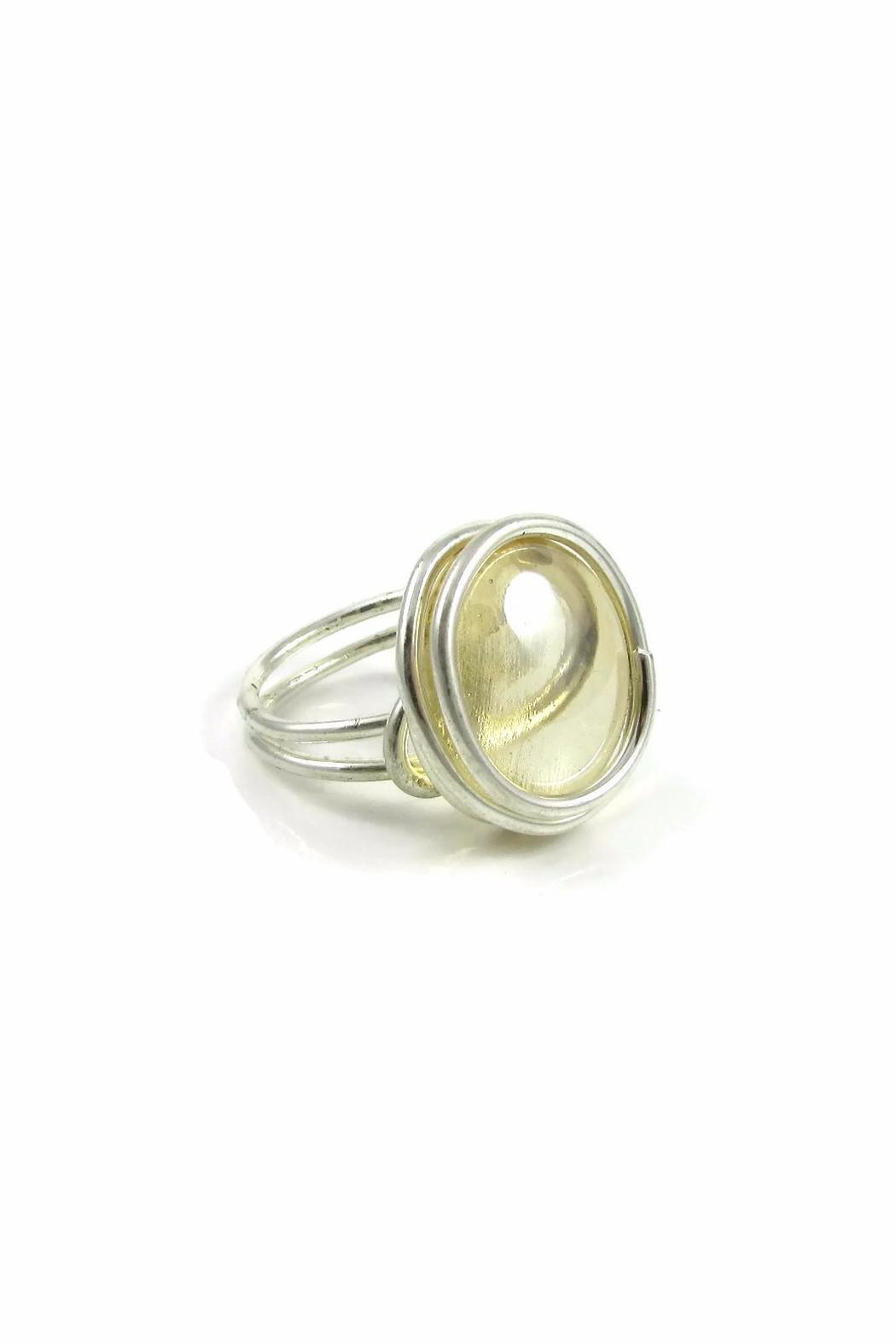 Jesus Quaas Infinity Glass Ring - Front Full Image