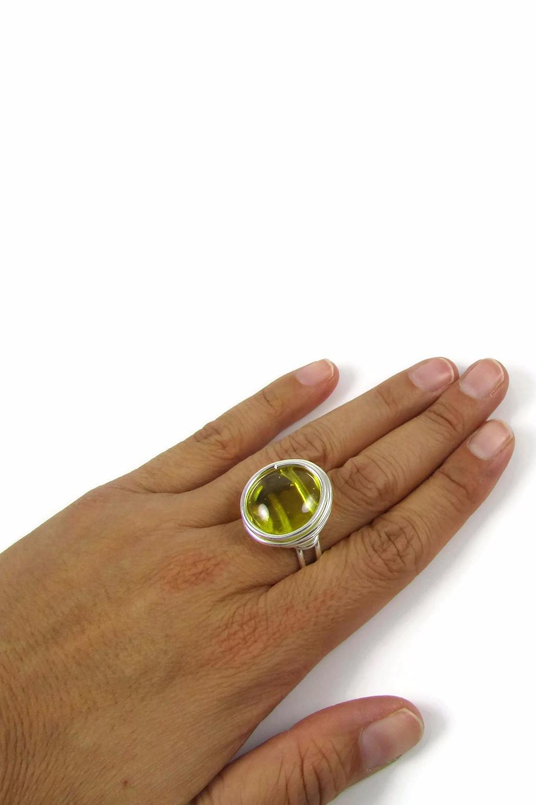 Jesus Quaas Infinity Glass Ring - Side Cropped Image