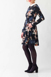 Smak Parlour Jet Set Floral Print Flare Dress - Front full body