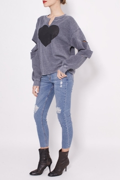 Shoptiques Product: Heart Handcut Sweatshirt