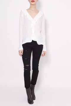 Shoptiques Product: Ruffle Button Down Top