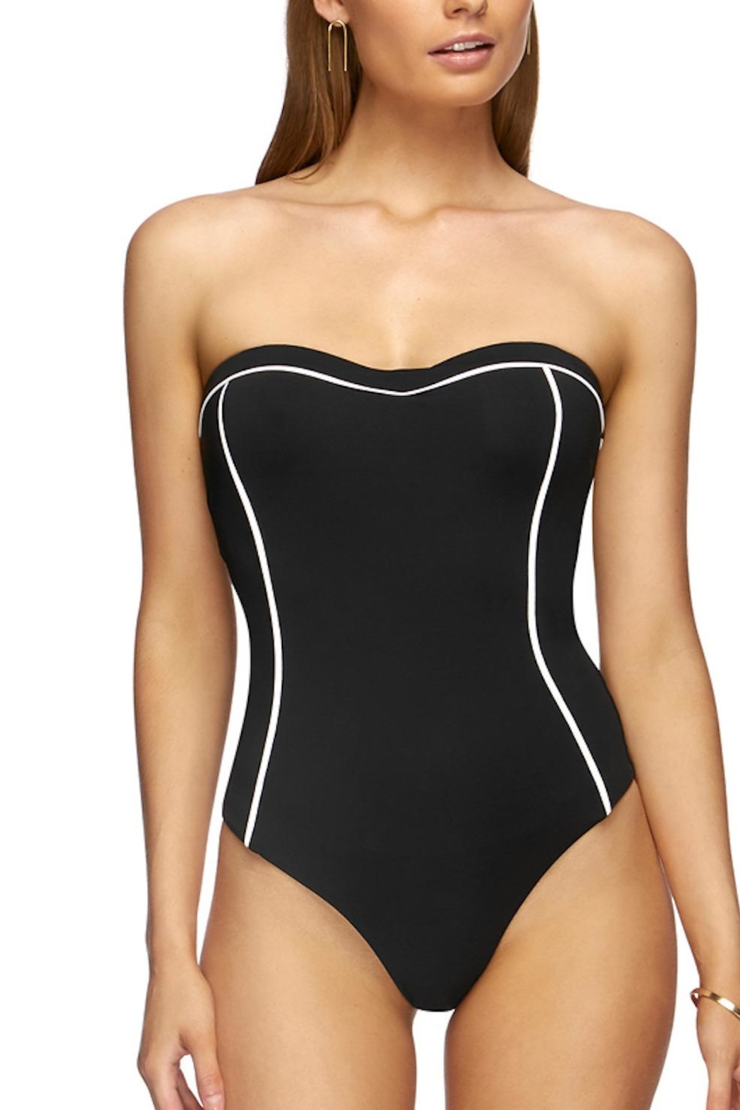Jets by Jessika Allen J Black/white Bandeau One-Piece - Main Image