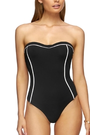 Jets by Jessika Allen Black/white Bandeau One-Piece - Product Mini Image