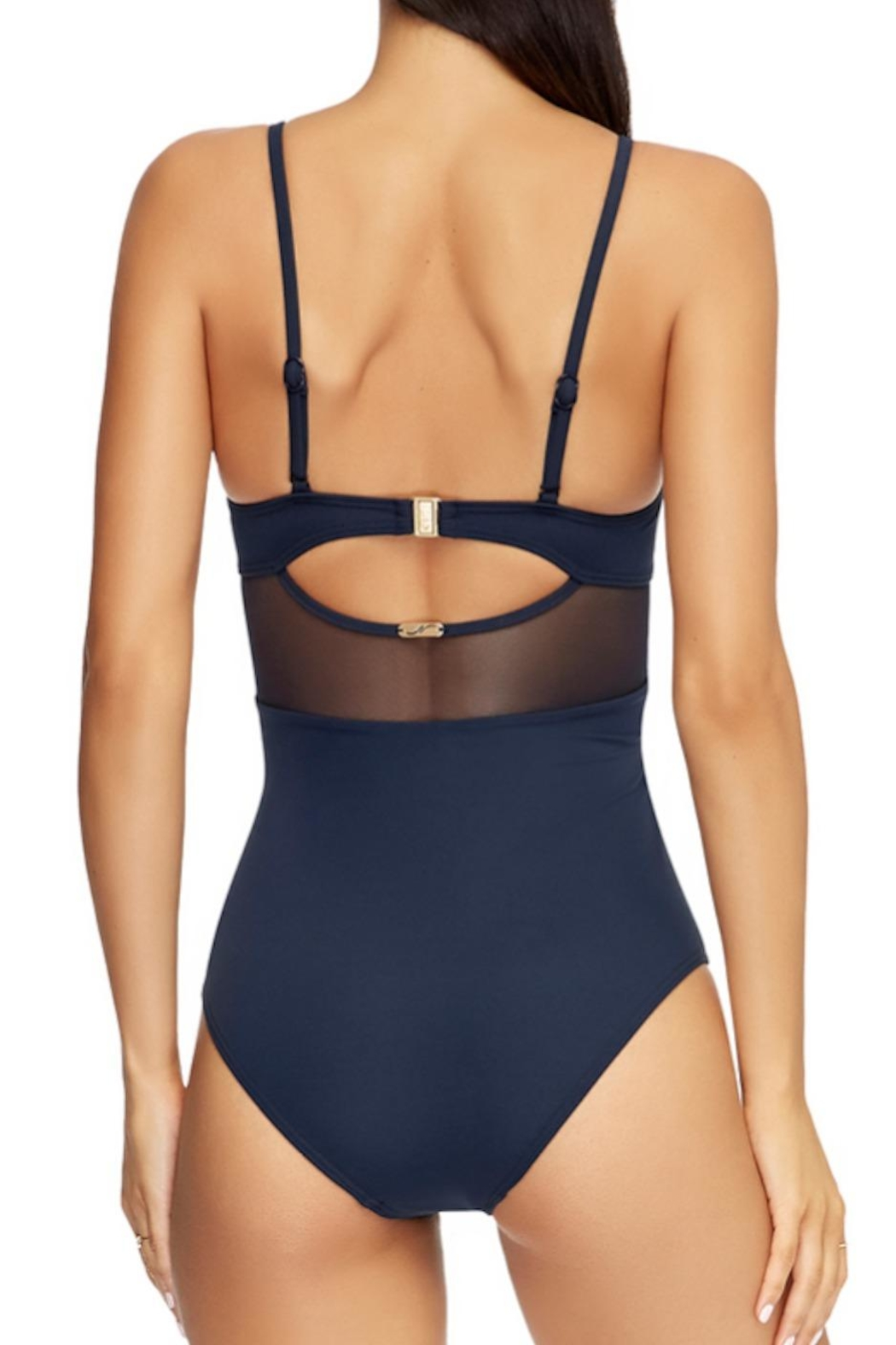 Jets by Jessika Allen Contour Crossover One-Piece - Back Cropped Image
