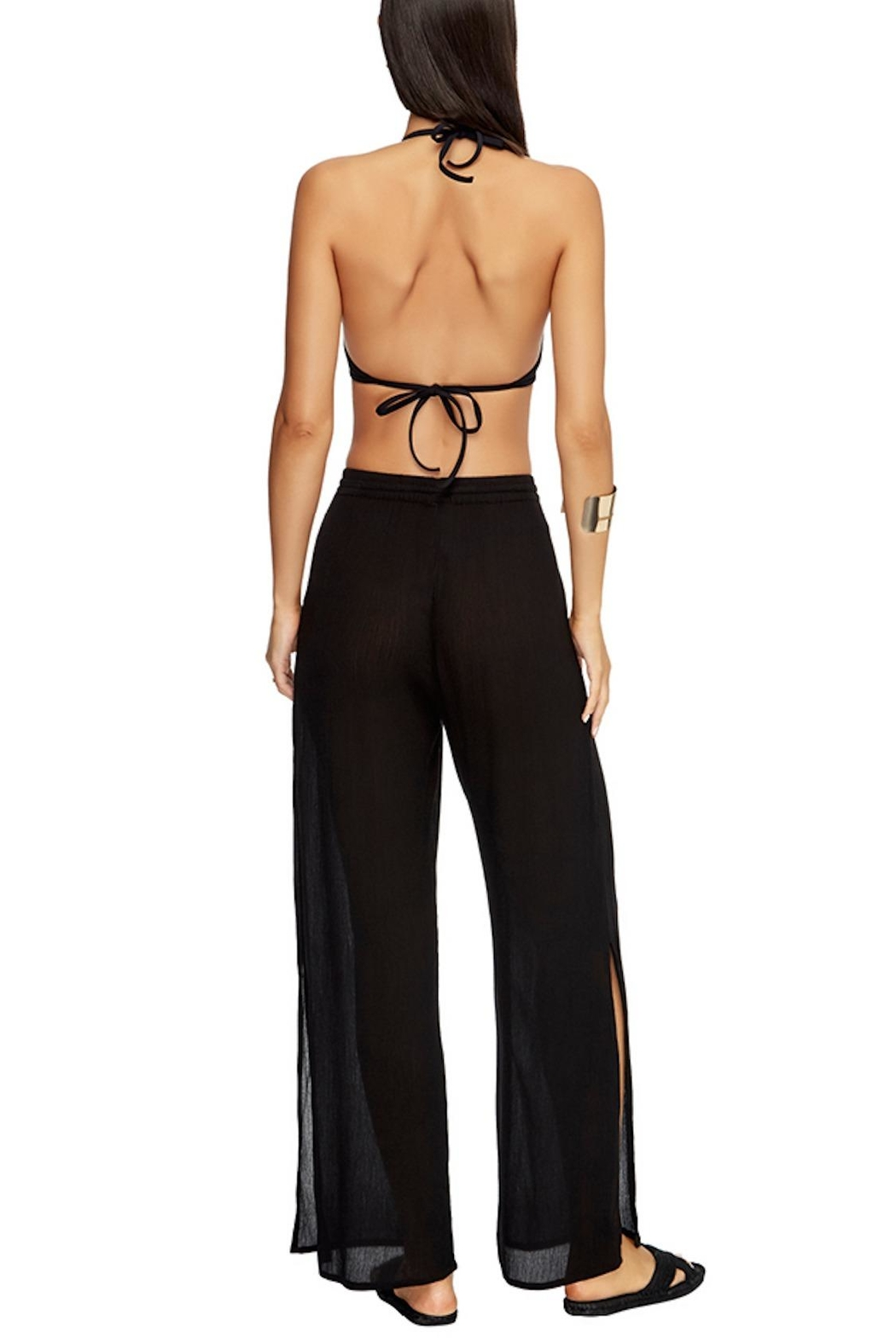 Jets by Jessika Allen J Jetset Black Pants - Back Cropped Image
