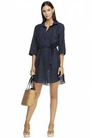 Jets by Jessika Allen Lapaz Navy Shirt-Dress - Product Mini Image