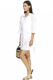 Jets by Jessika Allen Lapaz White Shirt-Dress - Product Mini Image