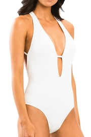 Jets by Jessika Allen Plunge One Piece - Front full body