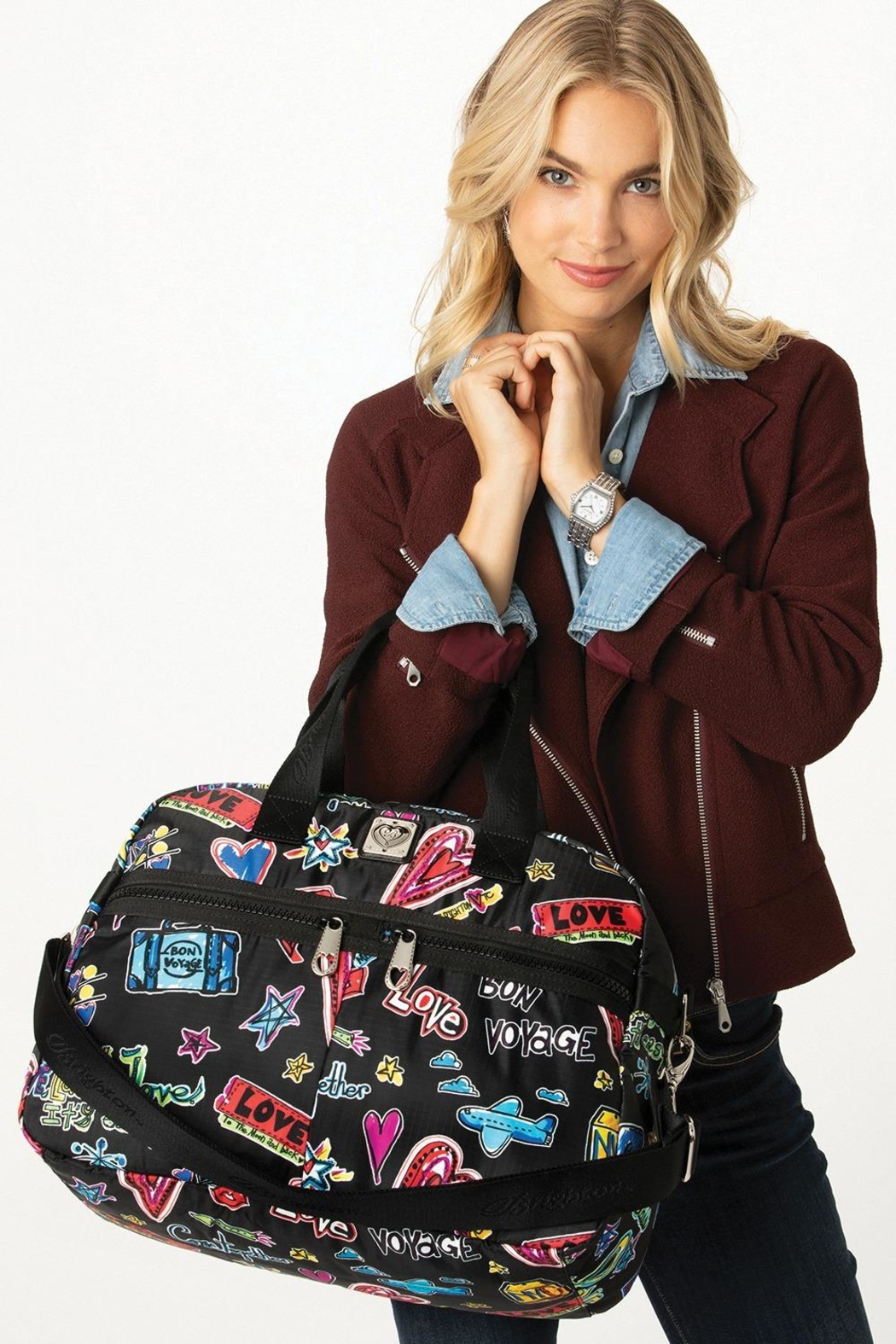 Brighton Jetsetter Duffel - Back Cropped Image