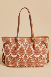 Spartina 449 Jetsetter Tote-Pink House - Front cropped