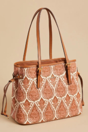 Spartina 449 Jetsetter Tote-Pink House - Front full body