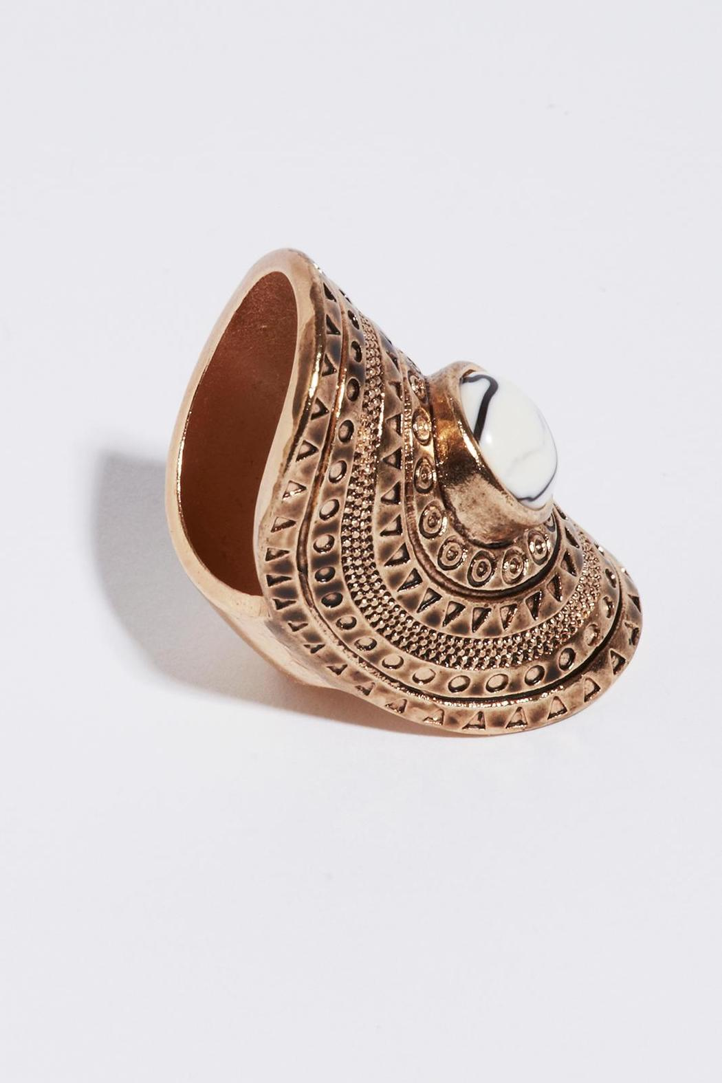 Jeune Colette Artifact Statement Ring - Front Full Image