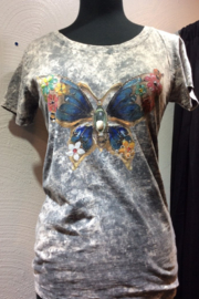 DiJore Jewel Embellished Hand-painted Italian Tee - Front cropped