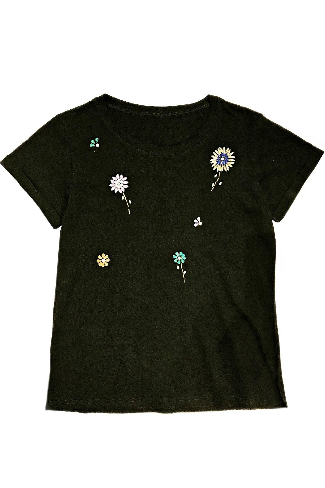 ANTONELLO SERIO Jewel Floral Tee - Front Cropped Image