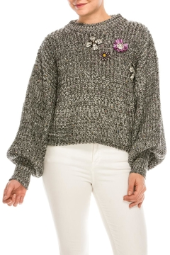 Shoptiques Product: Jewel Front Sweater