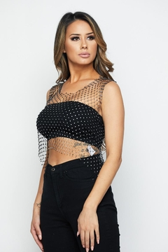 Hot & Delicious Jewel Mesh Top - Alternate List Image