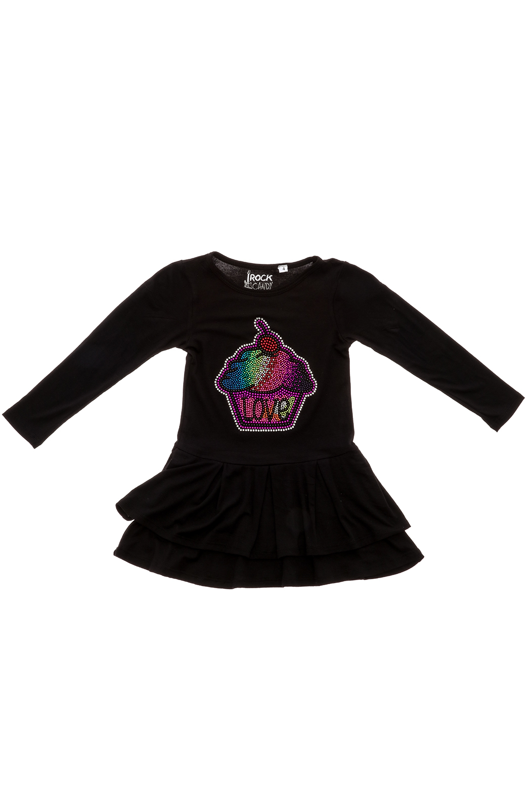 Rock Candy Jeweled Cupcake Love Dress - Front Cropped Image