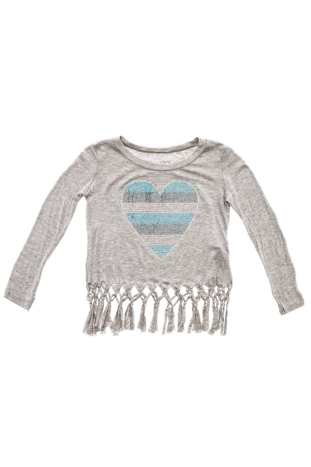 Rock Candy Jeweled Heart Fringe Top - Main Image