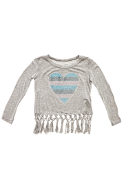 Rock Candy Jeweled Heart Fringe Top - Front cropped