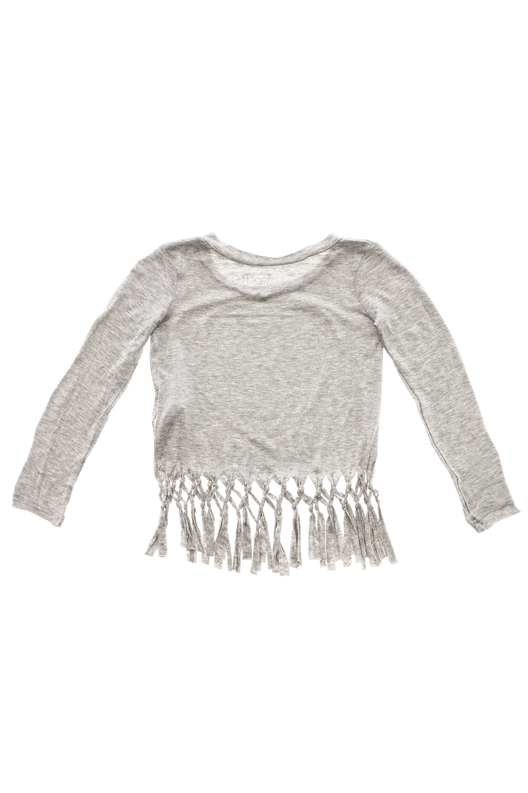 Rock Candy Jeweled Heart Fringe Top - Back Cropped Image