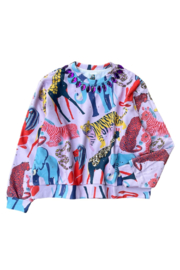 Queen Of Sparkles Jeweled Jungle Sweatshirt - Product Mini Image