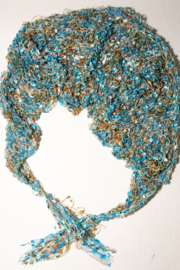 Handmade by CA artist Jeweled Lacey Knit Necklace/Shawl - Product Mini Image