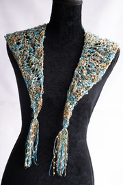 Handmade by CA artist Jeweled Knit Necklace/Shawl - Product Mini Image