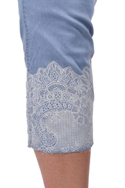 Ethyl Jeweled Lace Capri - Side cropped
