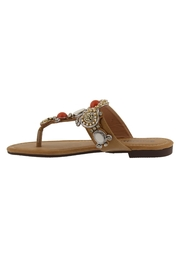 Spring Footwear Jeweled T-Strap Sandal - Front full body