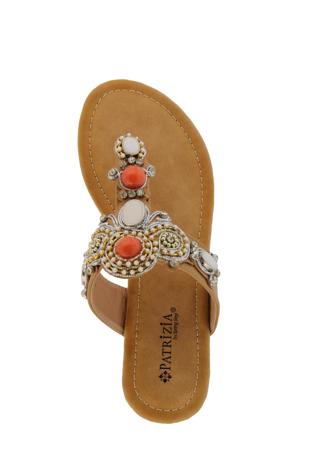 Spring Footwear Jeweled T-Strap Sandal - Side Cropped Image