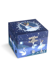 Ikon Design Jewelkeeper Blue Swan Lake Musical Jewelry Box w/ Drawer - Product Mini Image