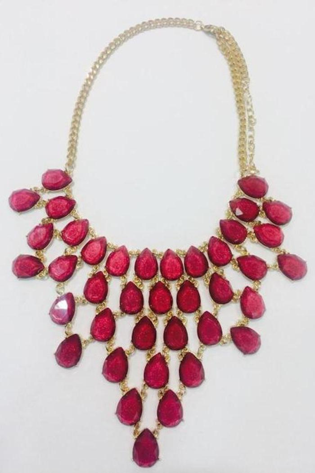 Jewellery Burgundy Jewels Necklace - Main Image