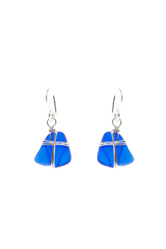 Shoptiques Product: Navy Blue Seaglass Earring