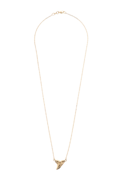 Shoptiques Product: Gold Shark Tooth Necklace