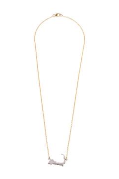 Shoptiques Product: Two Toned Silhouette Necklace